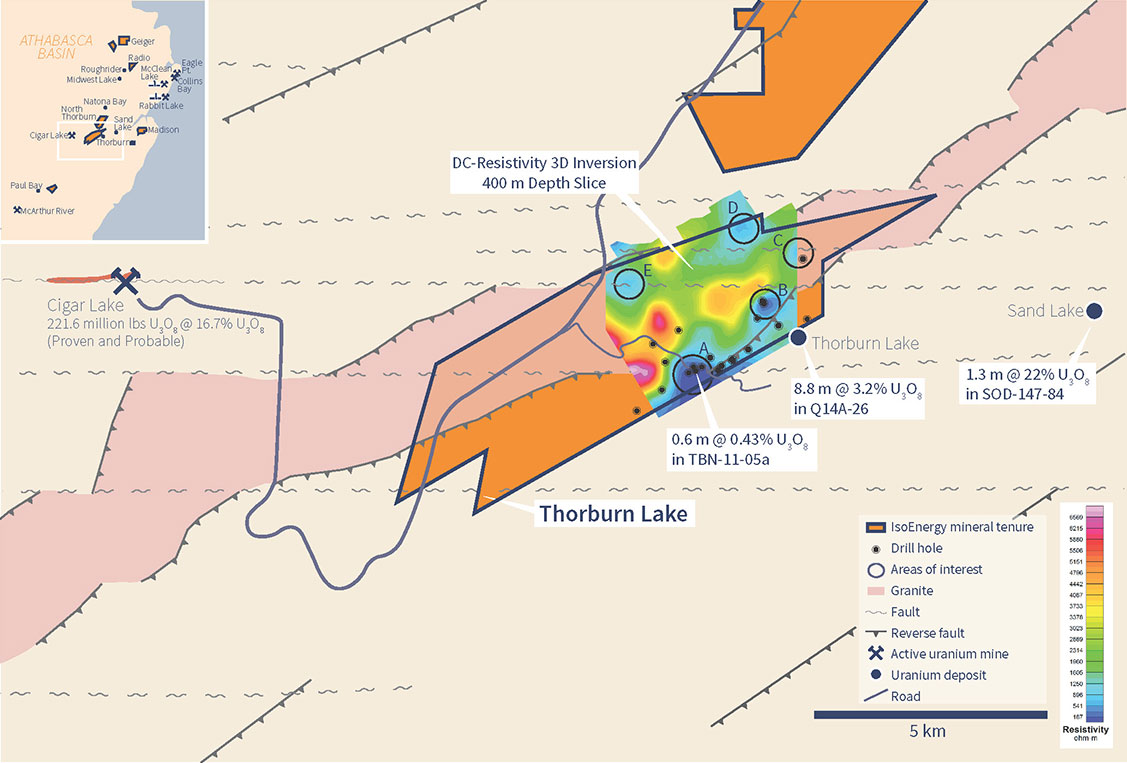 Thorburn Lake Geology, Drill Holes and Key Features